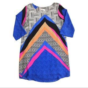 Renee C Stitch Fix Multi-Colored Print Shift Dress